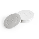 Wabi-sabi Concrete Coaster Set / Bone White