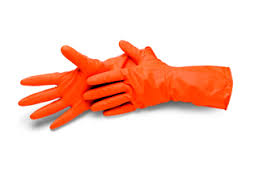 Handschuhe orange Latex