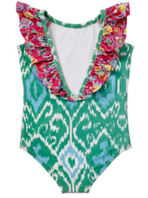 Load image into Gallery viewer, Masala Baby Ananya Floral Flutter Swimsuit