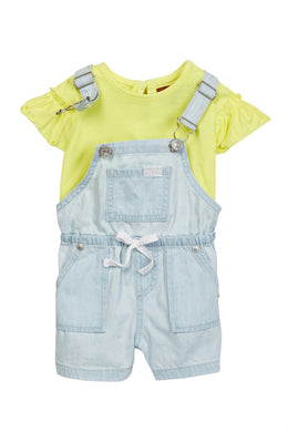 7 For All Mankind Light Jean Overall Set (2 piece set)