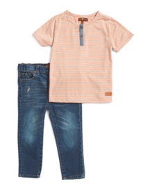 7 For all Mankind Jean and Shirt Set