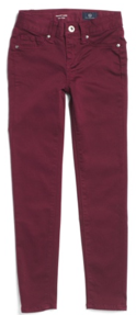 AG Skinny Sateen Jeans in Red Rose