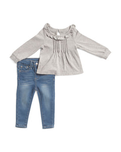 ADRIANO GOLDSCHMIED KIDS Jersey Top And Skinny Jean Set