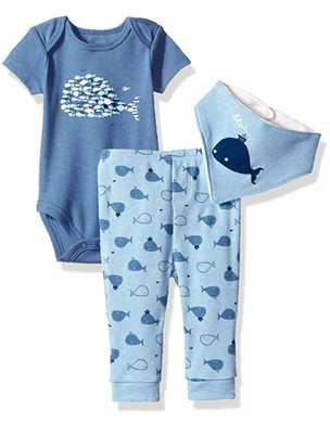 Absorba 3 piece Whale and Fish Set