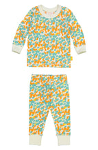Load image into Gallery viewer, Masala Baby Organic Cotton Spotted Pool Blue Pajama Set