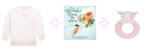Wonderful Pink Stripes Baby Girl Gift Set