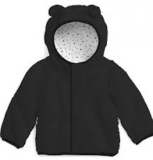 Magnificent Baby (Magnetic Me) Jet Black Fleece Hooded Jacket