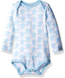 Coccoli Blue Star Long-sleeve Jersey Modal Bodysuit