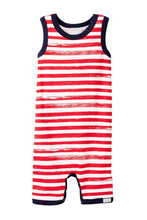 Load image into Gallery viewer, Coccoli Striped Sleeveless Crewneck Romper