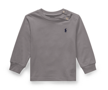 Load image into Gallery viewer, Ralph Lauren Cotton Long-Sleeve T-Shirt in Grey