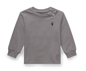 Ralph Lauren Cotton Long-Sleeve T-Shirt in Grey