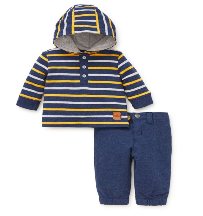 Offspring 2-Piece Hooded Shirt and Pant Set