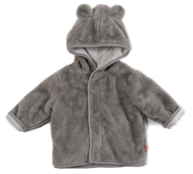 Magnetic Me Gray So Soft Minky Fleece Magnetic Hooded Jacket