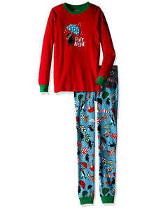 Hatley Ruff Night Organic Cotton Waffle Pajama Set