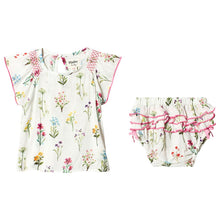 Load image into Gallery viewer, Hatley Enchanted Garden Mini Dress and Bloomer Set