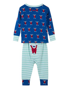 Hatley Mountain Monsters Organic Cotton Baby Pajama Set