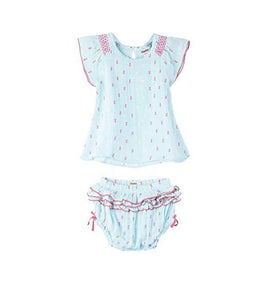 Hatley Mini Dress and Bloomer Set (Chambray)