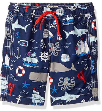 Hatley Vintage Nautical Swim Trunks