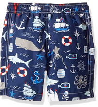 Load image into Gallery viewer, Hatley Vintage Nautical Swim Trunks