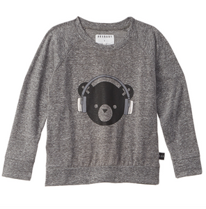 huxbaby Heartbeat Heather Grey Sweatshirt