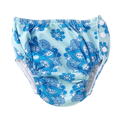 Masala Baby India Rose Turquoise Swim Diaper Cover