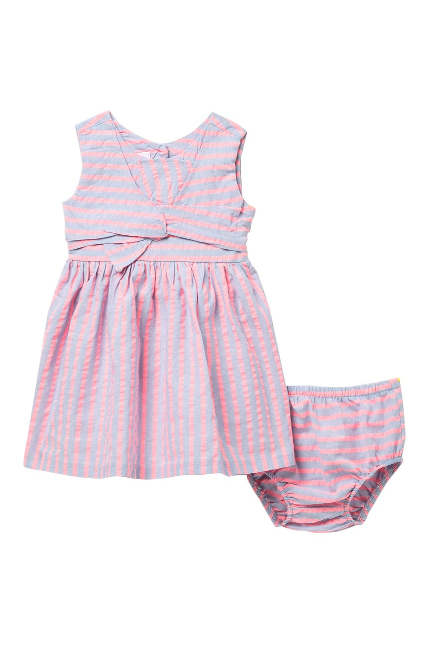 Iris & Ivy Neon Stripe Chambray Dress Set