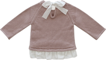 Load image into Gallery viewer, Jamie Kay Frill Bow Knit Rosy Sweater