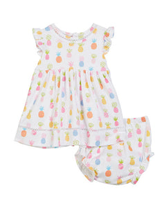 Kissy Kissy Pineapple Dress & Bloomer Set