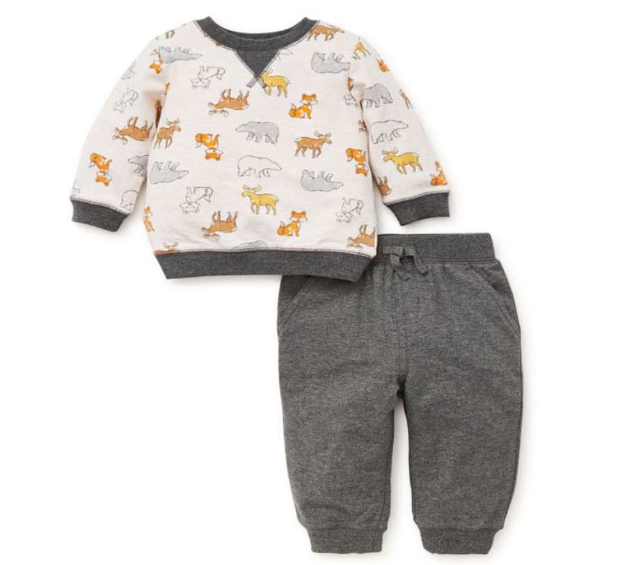 Little Me 2 Piece Woodland Jogger Set