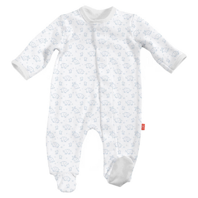 Magnetic Me Cotton Blue Elephant Footie (Citizen Kidette)