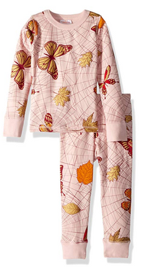Masala Baby Organic Cotton Spiderweb Powder Pink Two-Piece Pajama Set