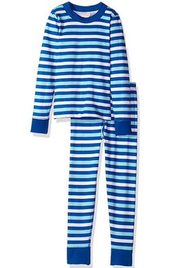 Masala Baby Organic Cotton Striped Two-Piece Pajama Set