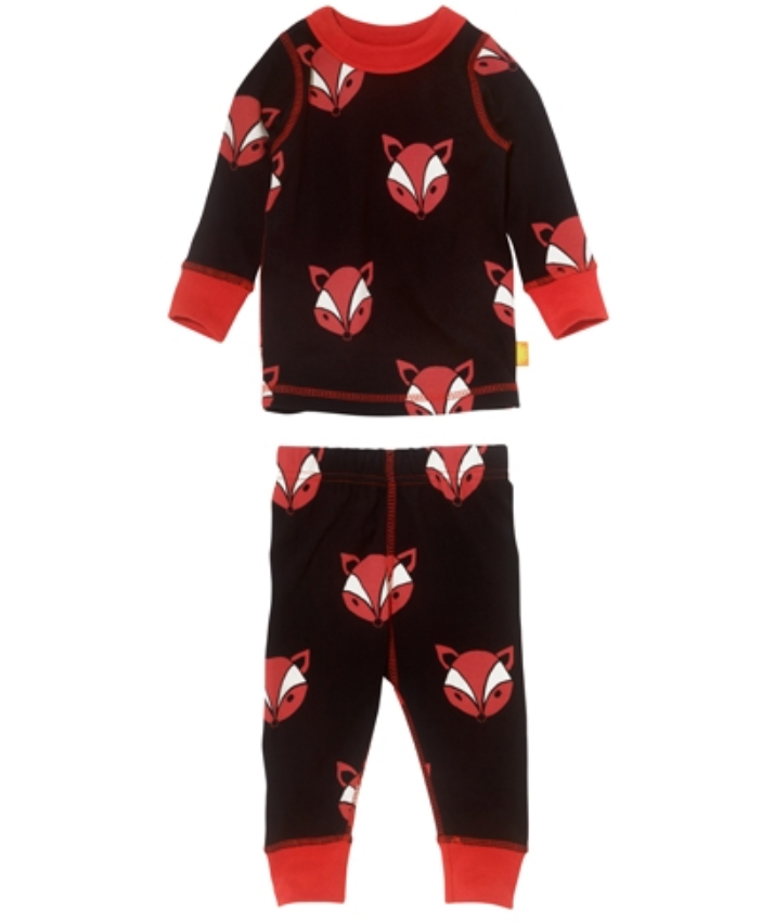Masala Baby Organic Long Sleeve 2 Piece Fox Pjs