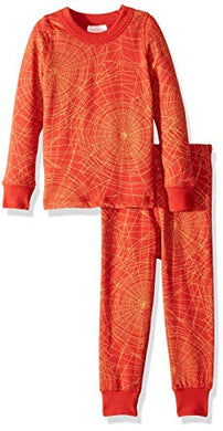 Masala Baby Organic Cotton Golden Web Brick Red Pajama Set