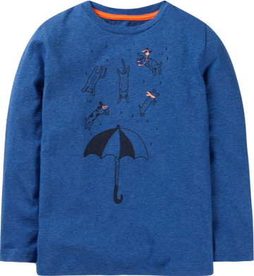 Mini Boden It's Raining Cats and Dogs British Weather Longsleeve Shirt