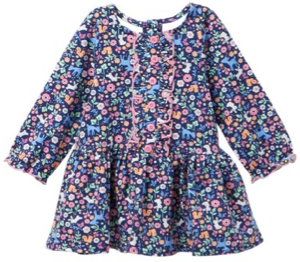 Pippa & Julie Ditsy Floral Bunny Dress (6-9m)