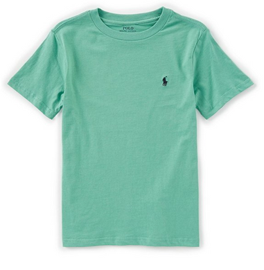 COTTON JERSEY CREWNECK T-SHIRT Color: Haven Green  Size: 6