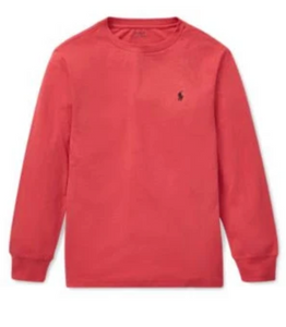 Ralph Lauren Cotton Long-Sleeve Red T-Shirt