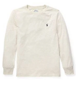 Ralph Lauren Cotton Long-Sleeve New Sand Heather T-Shirt