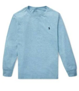 Ralph Lauren Cotton Long-Sleeve T-Shirt in Heather Blue