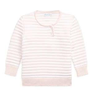 Ralph Lauren Baby Girl Striped Cotton Sweater