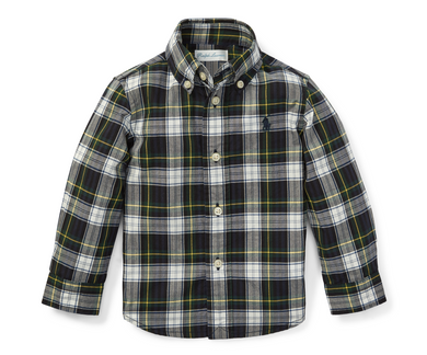Ralph Lauren Hunter Green Plaid Cotton Poplin Shirt