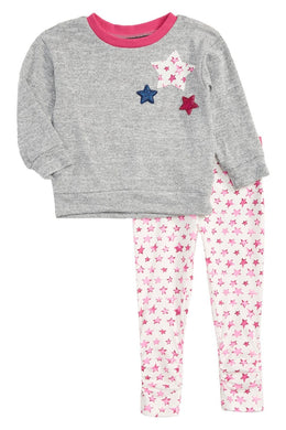 Rosie Pope Star Sweatshirt & Print Leggings Set