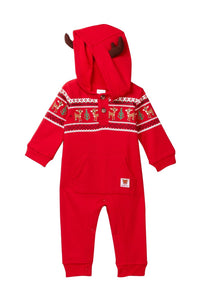Rudolph the Red-Nosed Reindeer Rudolph Hooded Coverall with Antlers