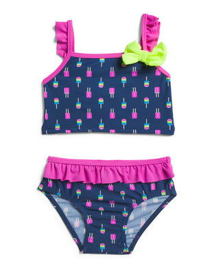 Sol Swim Popsicle Ruffle Two Piece Swim Set