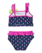 Load image into Gallery viewer, Sol Swim Popsicle Ruffle Two Piece Swim Set