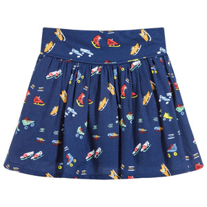 Stella McCartney Kids Skater Skirt (Navy)