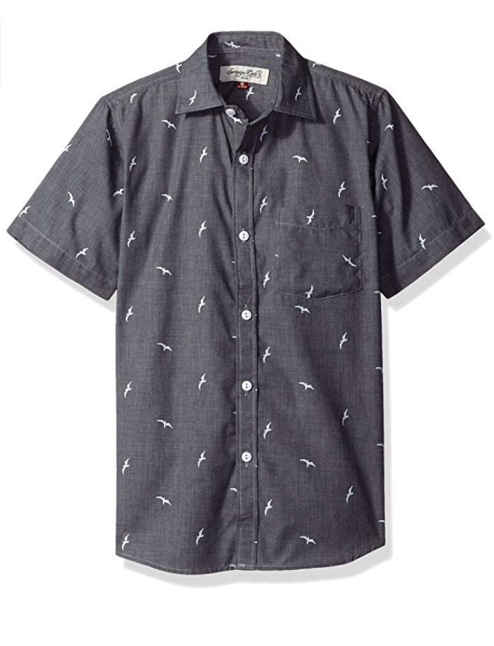 Sovereign Code Chambray Bird Short Sleeve Shirt