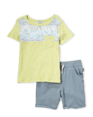 Splendid Sea Fern Two-Piece Tee & SweatShort Set
