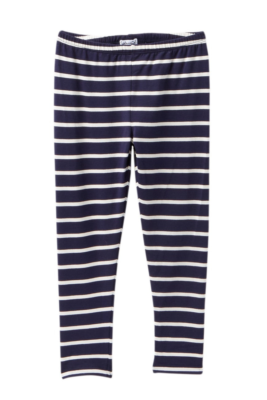 Splendid	Navy and White Striped	Leggings
